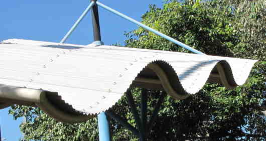 steel roofing curved with the sheets