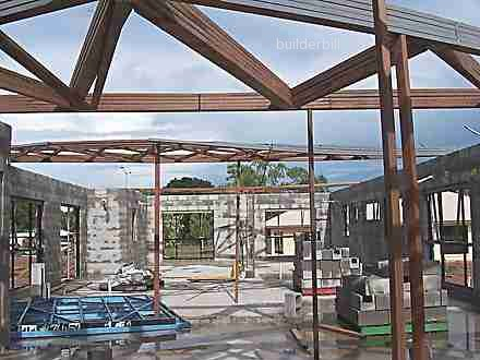 roof trusses on walls
