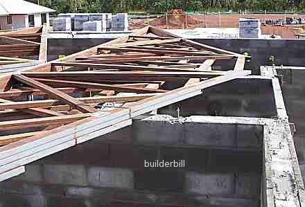 roof trusses ready for fixing