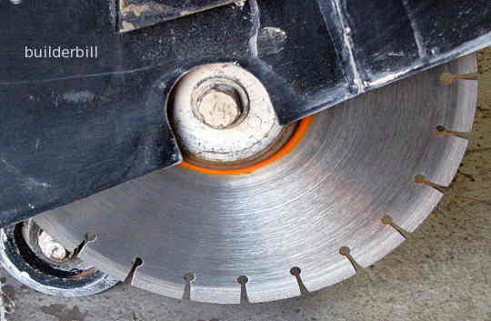a diamond saw blade