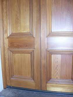 Western red cedar paneled doors
