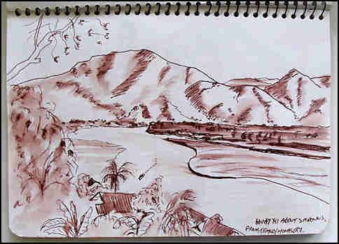 sketch of Mekong river at Xuai Zhai