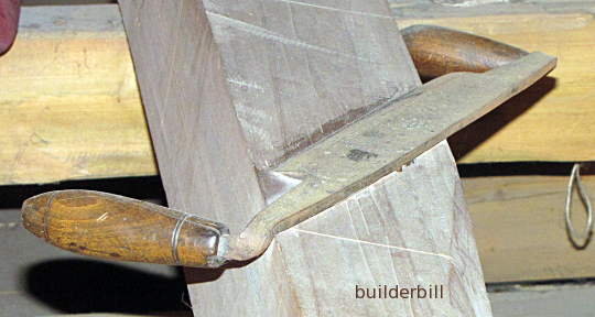a drawknife about 12 inch cut