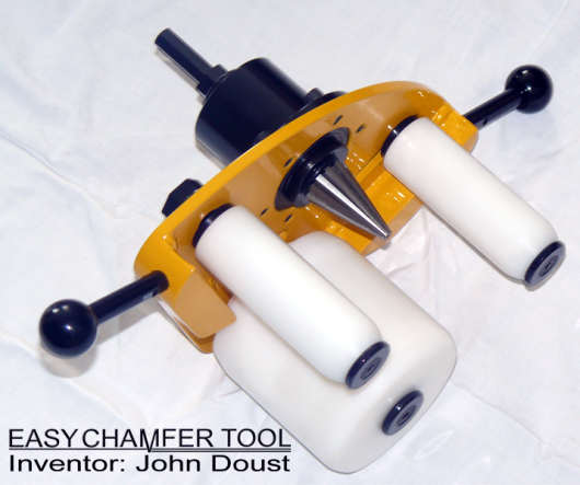 A close up of the easy chamfer tool