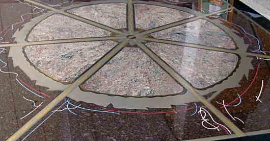 An epoxy based modern terazzo floor