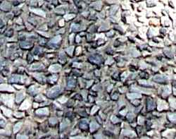 an exposed aggregate standard concrete mix.