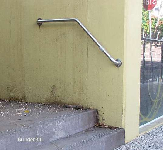 extended stair handrail