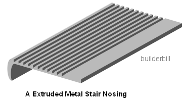 an extruded non slip nosing