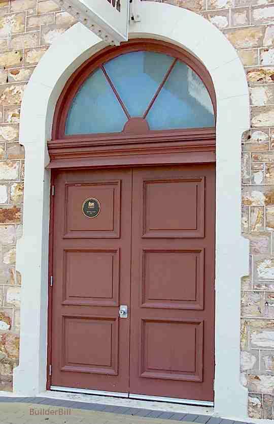 Double doors with fanlight