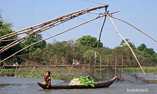 bamboo fish trap in Cambodia
