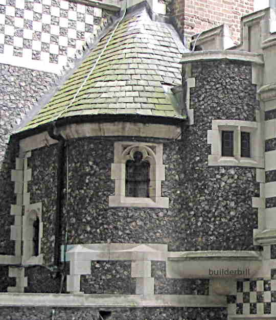 flint stone walls
