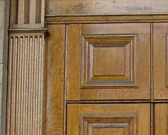 fluting and beading in a pair of doors