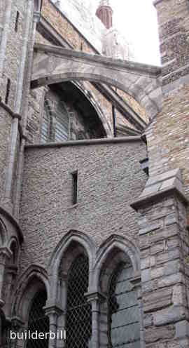 A flying buttress at Bruges
