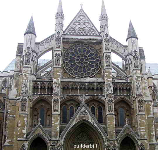 A flying buttress at Westminster Abbey
