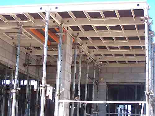 Panel system for slab formwork