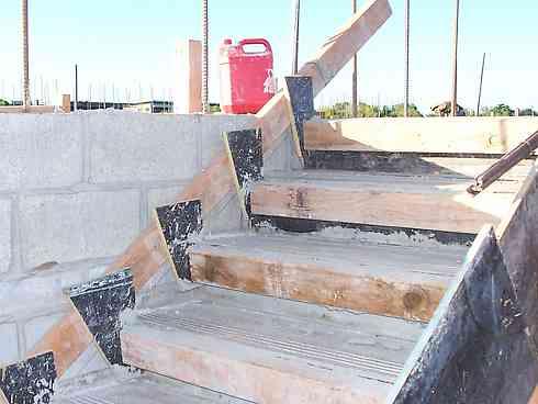stair riser formwork