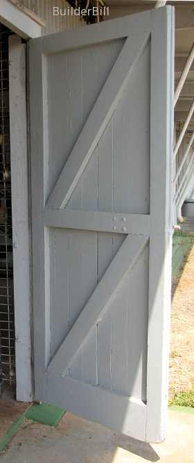 wooden frame and filled door