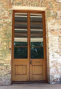 timber panel and glass doors, gunstock stile