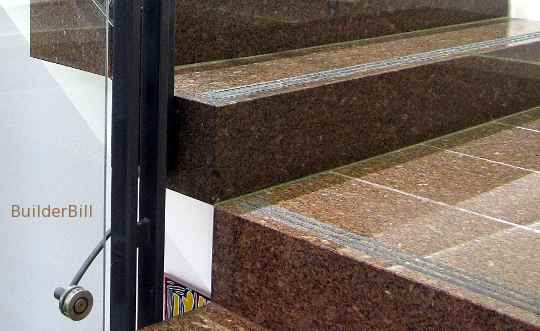 polished granite stair treads