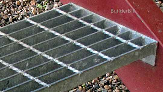 industrial galvanised grating step treads