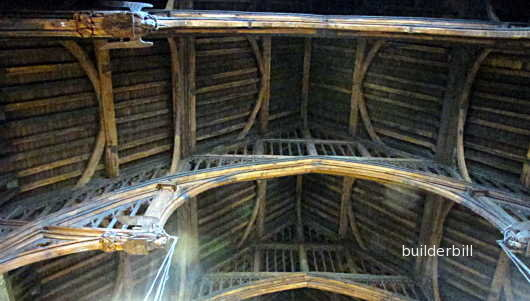 detail of Westminster Hall roof