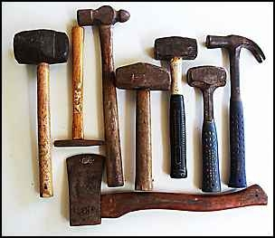 hammers, claw,lump,ball,pin and rubber