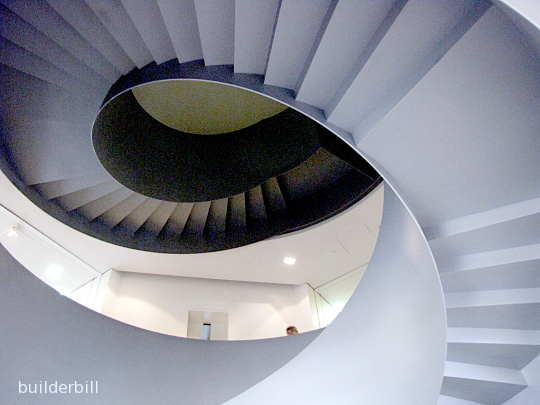 A plate steel helical stairway