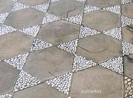 Hexagonal pavers