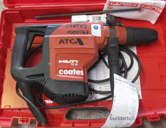 ready for work, a Hilti hammer drill