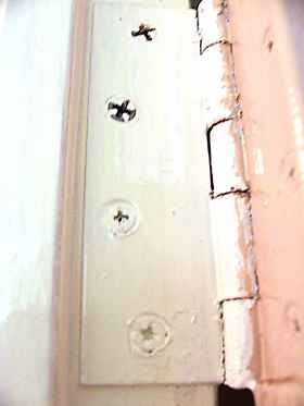 clogged up hinge screws