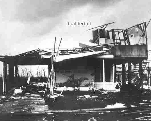 cyclone Tracy damaged house