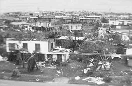 hurricane damaged houses