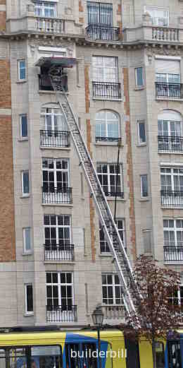 a large ladder hoist