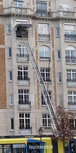 a large ladder hoist