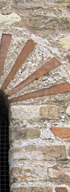lime mortar used on  building in ravenna