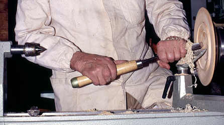 A long and sturdy wood turning tool
