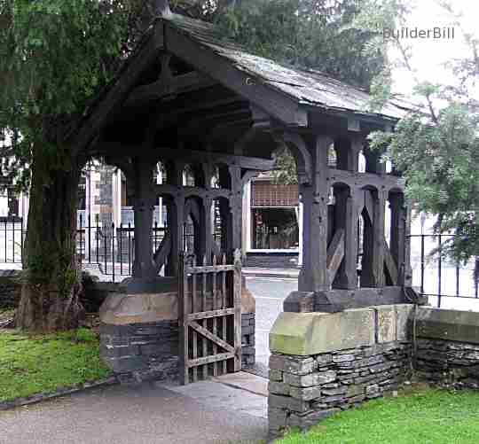 a churchyard lych gate