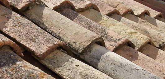 barrel or mission terra cotta tiles