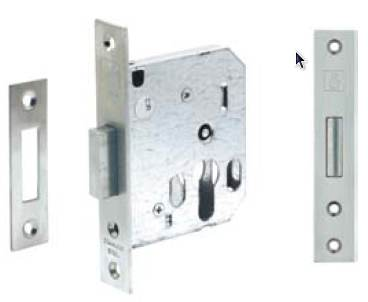 A mortise deadbolt lock