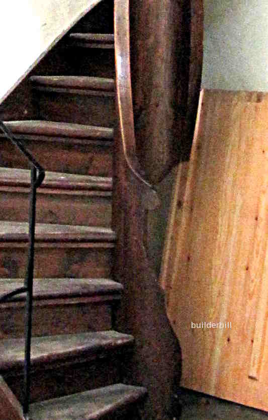 a timber core to a spiral stair