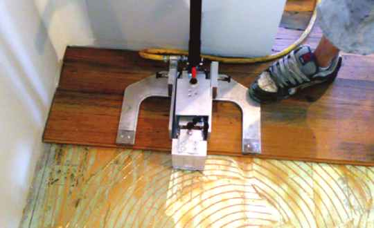 clamping over an existing floor