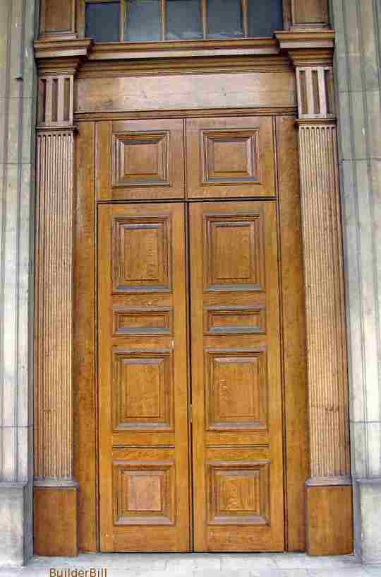 timber panelled doors