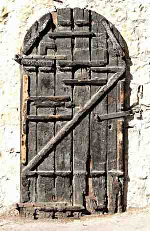 an old worn out door