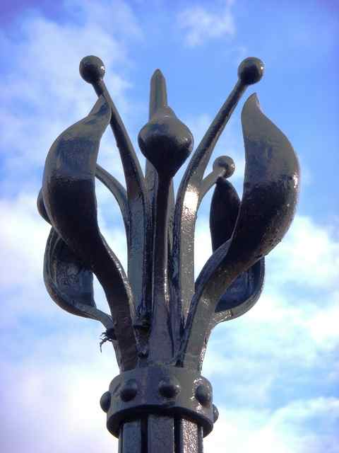 wrought iron finial