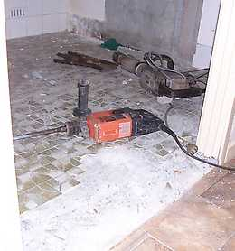 How do you remove ceramic tile from bathroom walls? - Yahoo! Answers