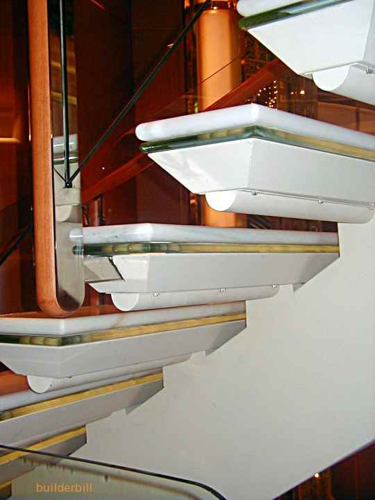 a combination open riser stair, steel and concrete