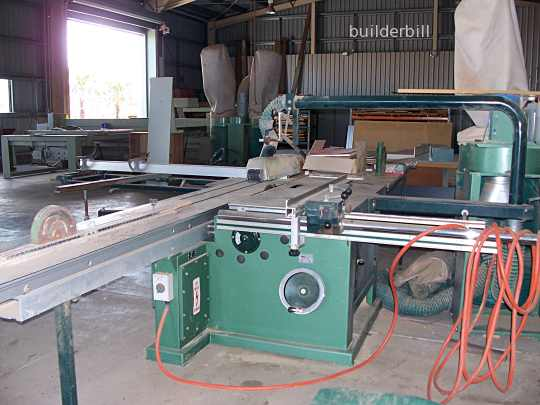 a large sliding table saw.