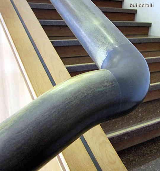 a pipe handrail wreath