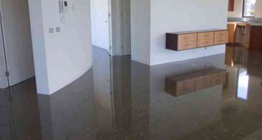 polished concrete floor in an apartment