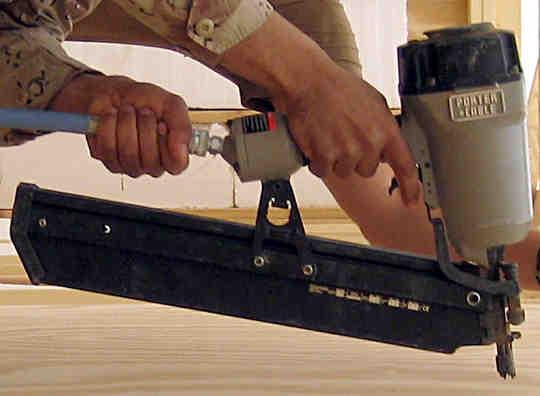 A Porter Cable framer nailer